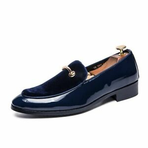 Men's Dress Shoes Shadow Patent Leather Fashion Groom Wedding Oxford Shoes Big