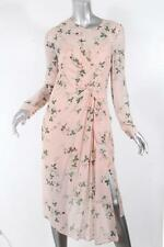 TOPSHOP UNIQUE Womens Peach Floral+Strawberry Long Sleeve Dress 6 NEW $475