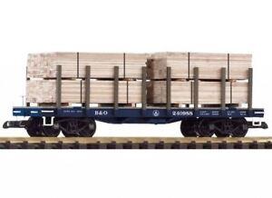 Piko G Escala B&o Vagón de Plataforma / de la Madera Carga Nuevo 38741
