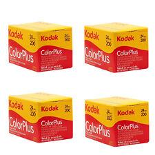 4 Rolls Kodak Color Plus 200 35mm Negative Film ColorPlus 135-24 exp. FRESH