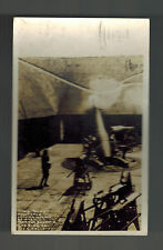 1918 WW1 Fort Adam RI Soldiers Mail Mortar Firing RPPC postcard Cover to Maine