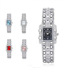 Fashion Butterfly Square Crystal Bracelet Watch Quartz Wristwatch Women Jewelry