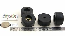 "4 Very Large 1 1/2"" Diam  Rubber Bumpers with Embedded Washer – ""Rubber Feet"""