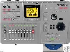 ZOOM MRS-802 CD MULTI 8 TRACK DIGITAL RECORDING STUDIO & POWER SUPPLY 1266 1608