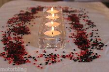 2000 x BLACK & RED 4.5MM WEDDING DIAMOND CONFETTI TABLE DECORATION UK SELLER