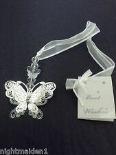Wedding/Bridal Keepsake/Horseshoe - 3D Silver & Crystal Butterfly