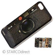 Vintage Fitted Hard Plastic Case for iPhone 5 - Camera Design