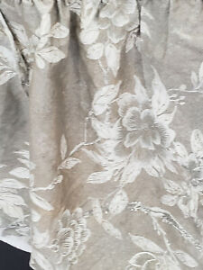 Vintage Ralph Lauren LRL Bed Skirt Queen Tan Gold White Floral Made In USA