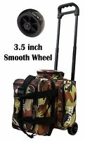 KAZE SPORTS 1 One Single Ball Bowling Roller Tote Bag Smooth Wheel, Camo