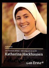 Katharina Hackhausen Um Himmels willen Autogrammkarte Original # BC 45731