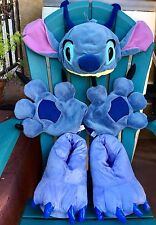 DISNEY LILO AND STITCH COSTUME PADDED PLUSH HAT GLOVES MITTS PAWS SLIPPERS SHOES