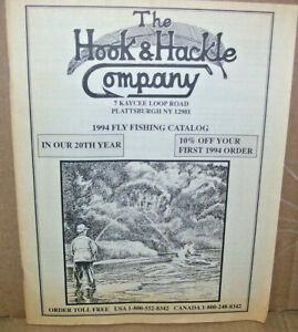 1994 Black & White The Hook & Hackle Company Fly Fishing Catalog Plattsburg NY