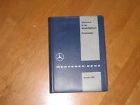 Tabellenbuch  Mercedes  1960 - 180 -190 - 220 --300 d- 300 SL- selten