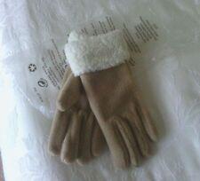 Avon one size beige polyester Winter Warm Gloves