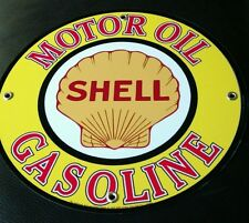 Shell Oil Gasoline gas sign