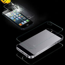 NEW Front and Back Tempered Glass Film Screen Protector for Apple iPhone 5S & 5