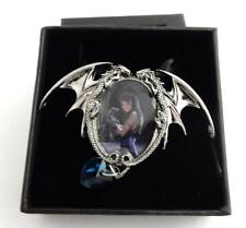 Anne Stokes Fantasy Design Boxed Pendant and Chain Water Dragon Ec1
