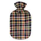 Acqua Sapone Fleece Red-Navy Cotton Plaid Plushie Cover for 2l Fashy Bottle (bot
