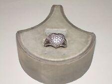 Judith Ripka Sterling Diamonique Ring - Vintage Heart Shape Signature Design - 9