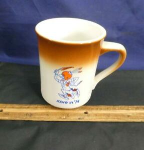 RARE 1974 SYRACUSE UNIVERSITY FOOTBALL SCORE IN '74 COFFEE CUP Saltine Warrior
