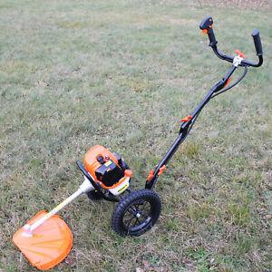 Freischneider Rasenmäher Benzin Räder Motormäher
