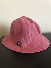 Stüssy Washed Ripstop Bell Bucket Hat, Red, Size L/XL