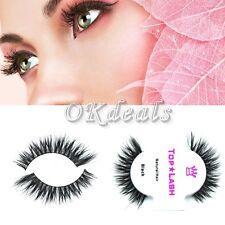 1 Pair Black 100% Real Horse Hair Thick Long Eye Lashes False Eyelashes M01