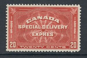 Canada Sc E4 MLH. 1930 20c henna brown Special Delivery, fresh, bright, VF