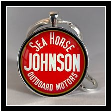 Vintage Johnson Sea Horse boat motor sign photo keychain Great Christmas Gift �