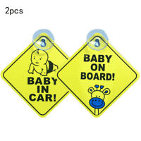 2pcs car vehicle Baby ON BOARD WARNING SAFETY SIGN Sticker Vinyl Decal Supply