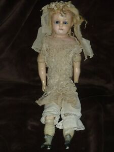 "19th. CENTURY 20""  GERMAN WAX DOLL"