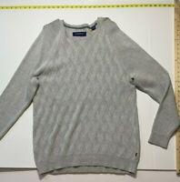 Tommy Bahama Cross Stitch Sweater - Gray - XL