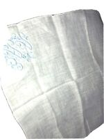 Vintage Blue White Hankerchief Monogram AAE
