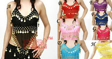 16 style chose hand made belly Sexy  Coins Dance Dancing Bra Top Dco