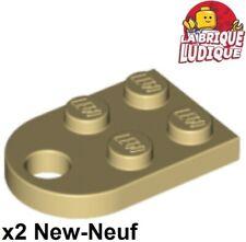 Lego - 2x Plate Modified 3x2 with Hole beige/tan 3176 NEUF