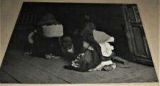 "signed silver print photo by GORDON C. ABBOTT of Mexico City Indians ""DEVOTION"""