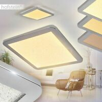 LED edle Bad Decken Lampe dimmbar Flur Wohn Schlaf Bade Zimmer eckig IP 44 flach