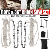 36'' Handkettensäge mit Seil & Beutel Outdoor Handsäge Astsäge Zugsäge Baumsäge