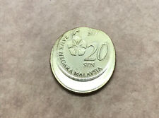 (b) Malaysia 3rd Series 20 Sen Struck on 50 Sen Wrong Planchet Mint Error Coin