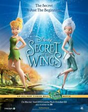 TINKER BELL SECRET OF THE WINGS DVD MOVIE POSTER 1 Sided ORIGINAL 26x40