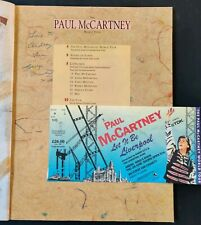 George Martin Signed Paul McCartney World Tour Programme & Ticket -  Liverpool