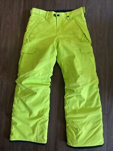 Six-Eight-Six 686 Ski/Snowboard Pants Youth Size M. Highlighter Yellow.