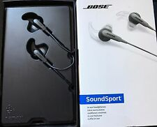 NEW Bose Headset SoundSport In-Ear Headphones for Android w/Case BLACK AudioOnly
