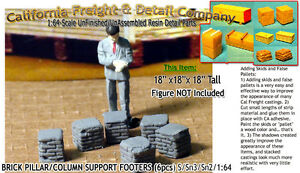 Scale Model Masterpieces/Yorke Brick Pillar/Column Support Footers (6pcs) S/1:64