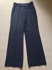 Wool Blend High Rise Tailored 32L Trousers for Women