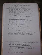 Manuscrit de Miguel Zamacoïs - théâtre Monsieur Cesarin