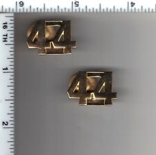 44th Precinct Police Collar Brass Set - from the New York City/New Jersey Area