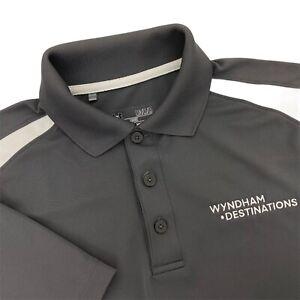 Under Armour Gray Wyndham Destinations Golf Polo Loose Fit Shirt Mens Medium M