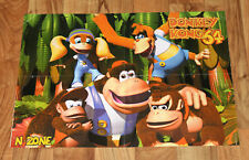 1999 Rayman 2 The Great Escape / Donkey Kong 64 Nintendo N64 Poster 56x40cm PS1