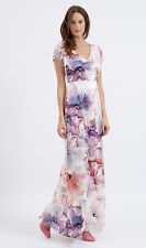 ALMOST FAMOUS London maxi long Artistic floral silk dress, size 8, £265.00 BNWT